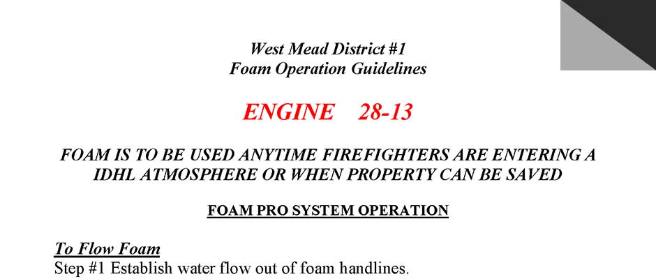 foam guidelines 28 13 preview - Training
