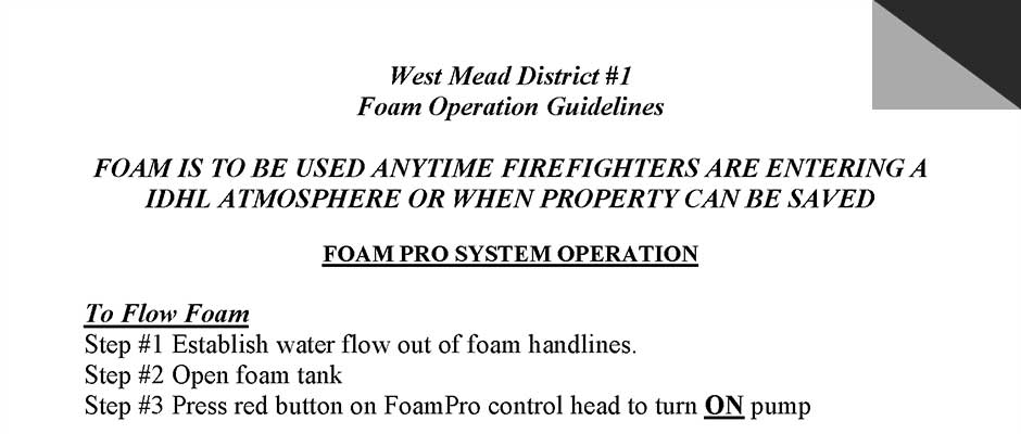 foam guidelines preview - Training