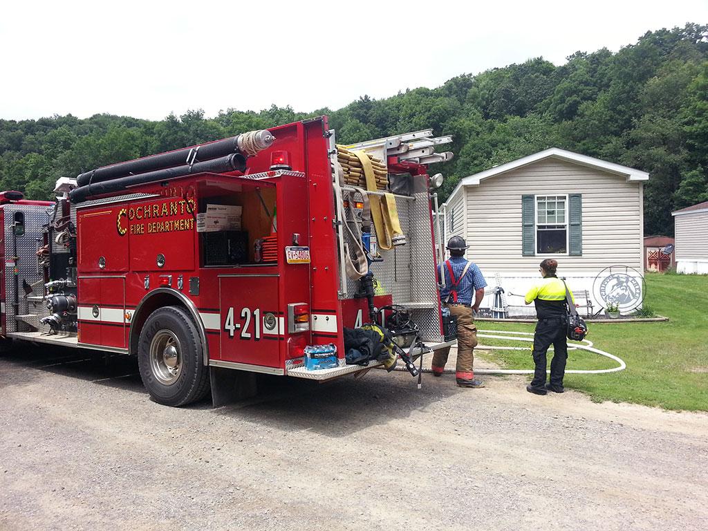sugar creek ln fire 3 - Sugar Creek Lane Structure Fire, Assist to Cochranton