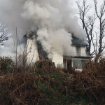 schreck road fire 01 150x150 - Second-Alarm Structure Fire on Schreck Road
