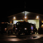 engines park outside alden st station after drill 150x150 - Photo Gallery