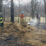 firefighters overhaul hay bales in brush fire 150x150 - Photo Gallery