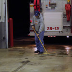 paul taormina sweeping floor after drill 150x150 - Photo Gallery