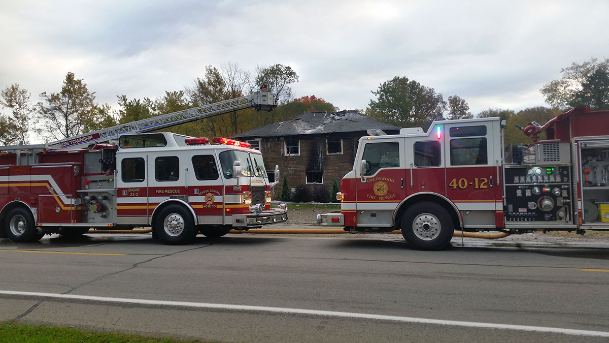 House Fire on Perry Highway, Accident on Washington St