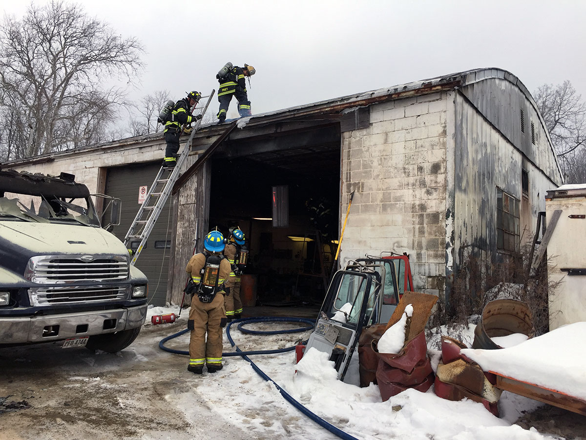 Commercial Garage Fire On Liberty St Extension West Mead
