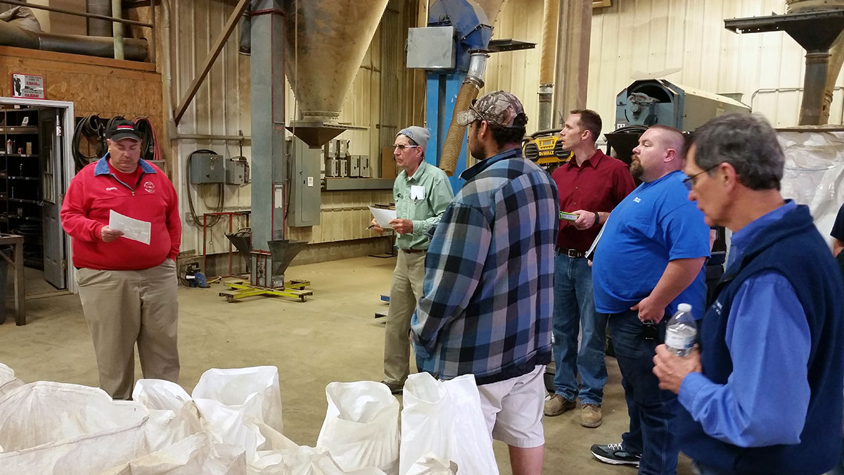 firefighters tour Ernst Conservation Seeds - Tour of Ernst Conservation Seeds