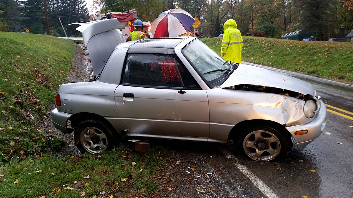 Barton Road MVA rollover involving a Suzuki X90