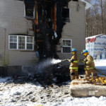 Mike Chornack Mike Rayburn soak contents 150x150 - House Fire on Snake Road, Assist to Cochranton