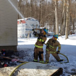 Mike Chornack Mike Rayburn soak exterior building 150x150 - House Fire on Snake Road, Assist to Cochranton