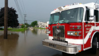 28 13 Cochranton Road flooded - Flooded Roadways in West Mead Township