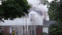 smoke showing upstairs windows Erie News Now - Liberty St Basement Fire