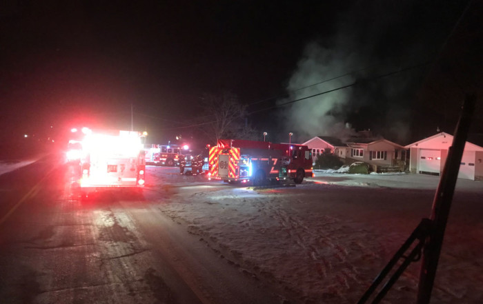 greenwood rit house fire road 700x441 - House Fire on Highway 19, RIT Assist to Greenwood