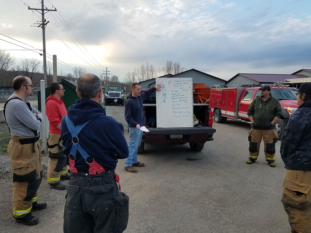 Chief Brad Johnston reviews the training scenario and tips for pump relay