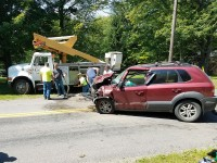Two-vehicle MVA on Franklin Pike