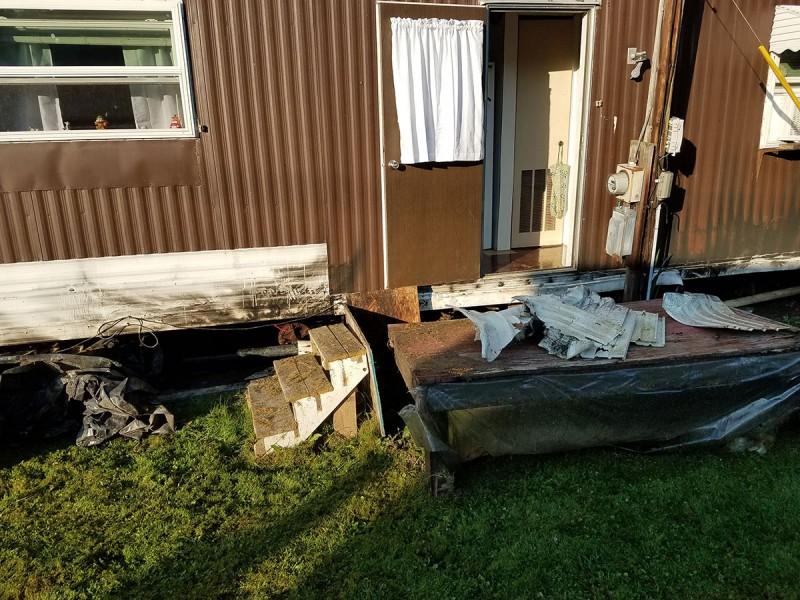 Single-wide trailer fire, assist to Cochranton