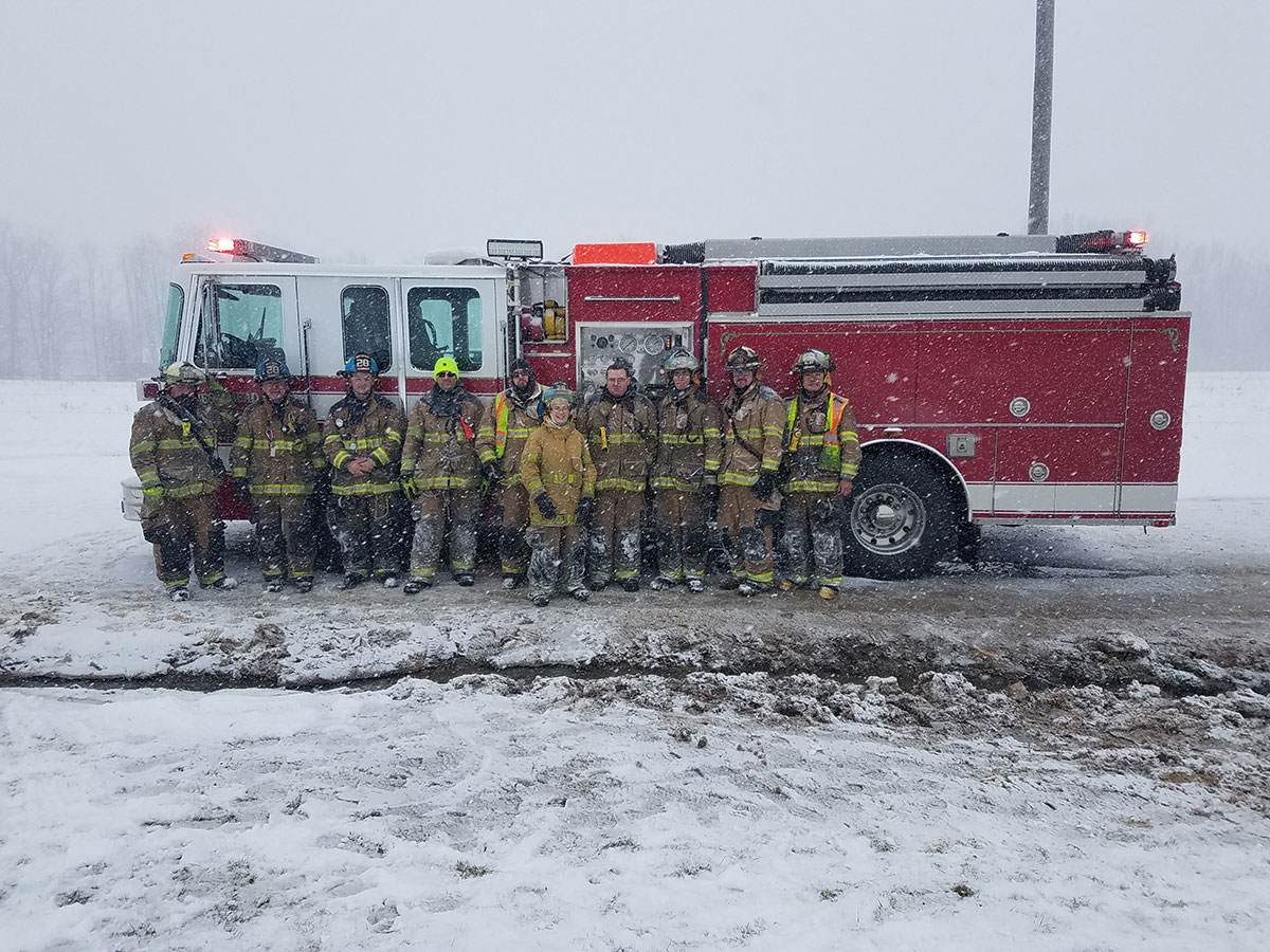 Fire crew that responded to Cochranton shop fire